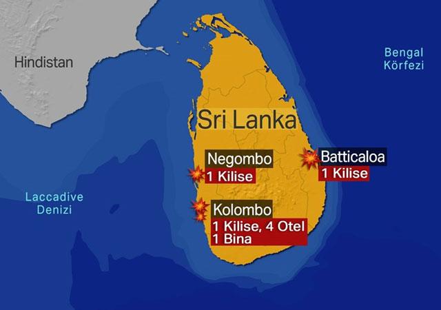 Sri Lanka'da ölü sayısı 290! 24 kişi gözaltında