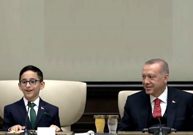 Çocuk Cumhurbaşkanı'ndan kabine yanıtı! Erdoğan'ı güldürdü