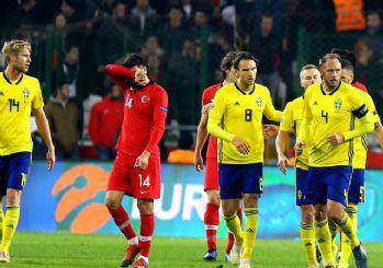 İsveç'e 1-0 yenildi! Türkiye küme düştü