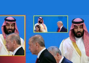 Erdoğan ve Trump Kral Selman'la tokalaşmadı!