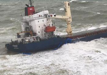 İstanbul Şile'de kargo gemisi karaya oturdu