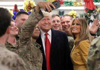 Trump çiftinden Irak'taki ABD askerlerine ziyaret