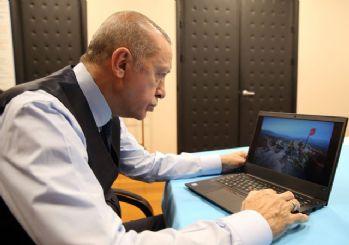 Cumhurbaşkanı Erdoğan, AA'nın fotoğraflarına oy verdi