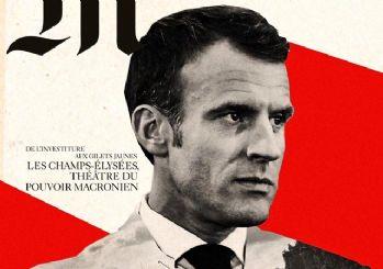Fransızlar Macron'u Hitler'e benzettiler