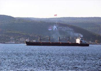 Çanakkale Boğazı'nda yük gemisinde yangın!