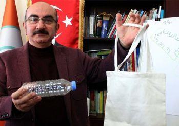 Pet şişe getirene bez torba