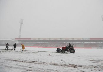 Boluspor-Galatasaray maçına kar engeli
