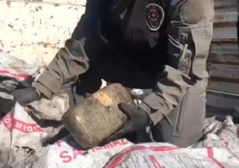 Yardıma giden kömür torbalarında 70 kilo esrar