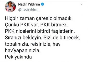 HDP'li vekilden skandal paylaşım! Erdoğan, Bahçeli ve Perinçek'i ölümle tehdit etti