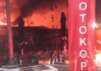 Marmara Üniversitesi'nde korkutan yangın!