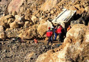 Milas'ta maden ocağında göçük! İşte ilk görüntüler