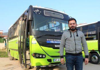 Kocaeli'nde bir halk otobüsündeki tacizciye linç girişimi