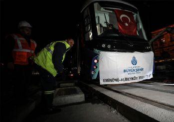 Eminönü-Alibeyköy tramvay hattında test sürüşü
