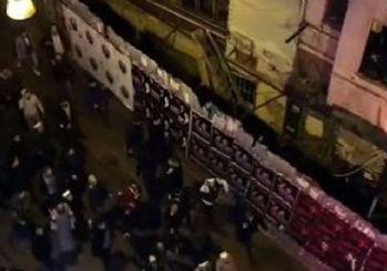 Ezanı protesto edenlere Taksim'deki gruptan tepki