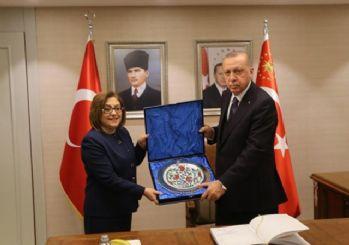 Erdoğan ile Fatma Şahin'den miting