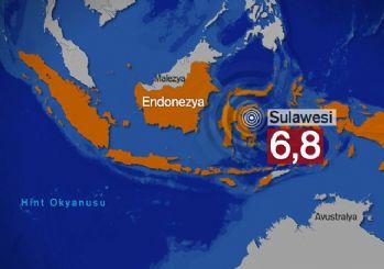 Endonezya'da korkutan deprem! 6,8 büyüklüğünde