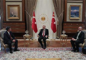 Erdoğan, Feyzioğlu'nu kabul etti