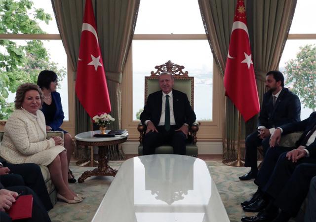 Erdoğan'la görüşen Matviyenko: Türkiye S-400 sistemlerinden vazgeçmeyecek