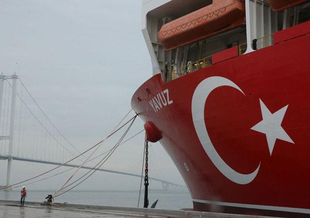 Yavuz gemisi Akdeniz'e uğurlandı!