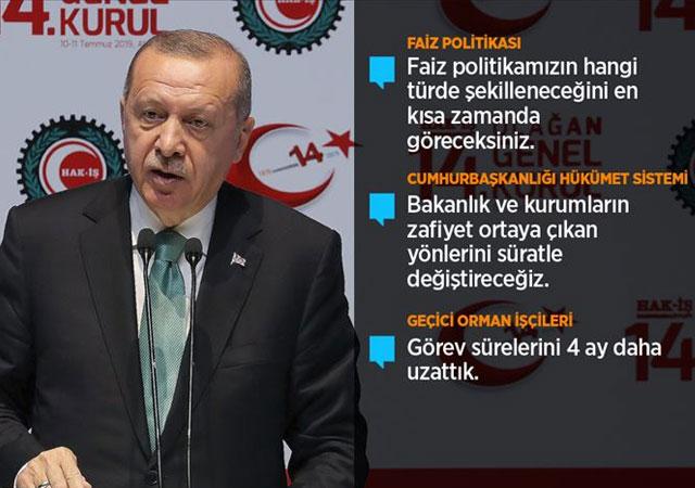 Erdoğan: Emekçinin yanında yer almak lafla olmaz!