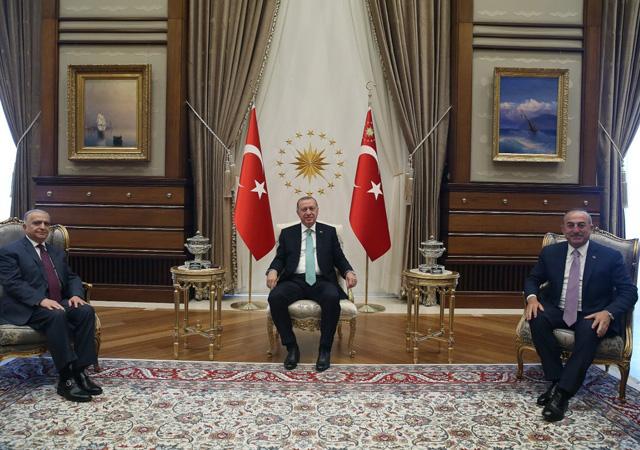 Erdoğan, Iraklı heyeti kabul etti