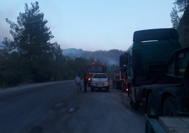 Muğla'daki orman yangını 18 saat sonra kontrol altında