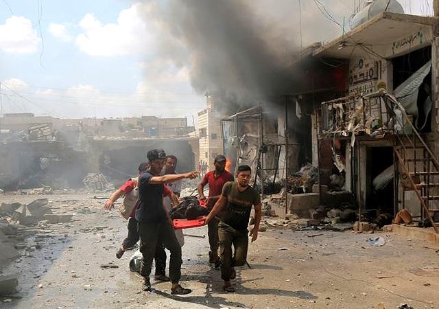 Katil Esed İdlib'te yine katliam yaptı