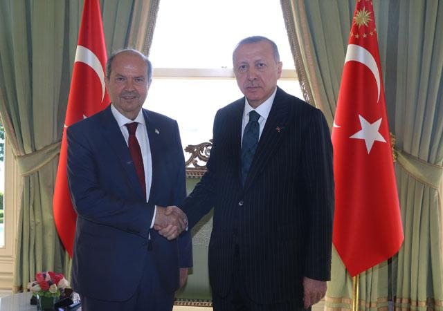 Erdoğan, KKTC Başbakanı kabul etti