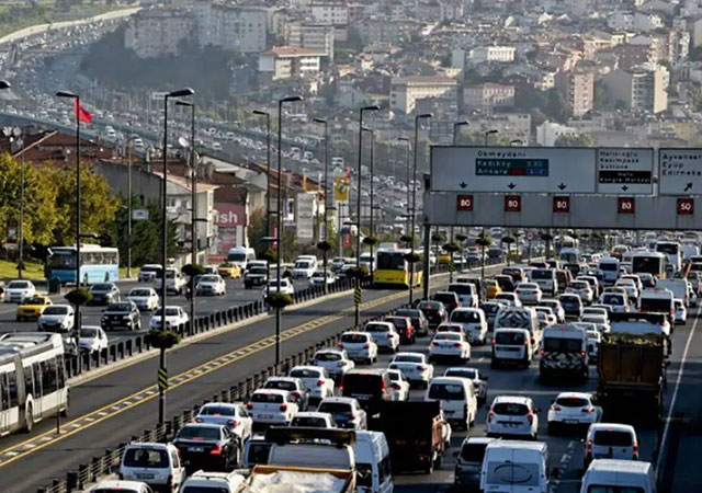İstanbul'da okul trafiği!