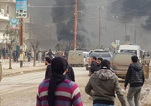 Afrin'de bomba yüklü araçla saldırı!