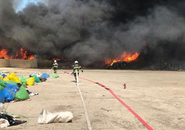 Kırıkkale'de fabrika yangını!