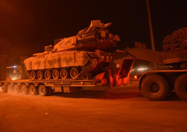 Tel Abyad sınırına askeri sevkiyat