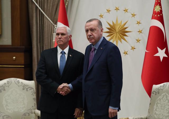 Erdoğan-Pence görüşmesi başladı