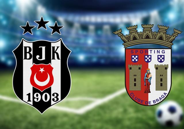 Beşiktaş-Braga maçının ilk 11'leri