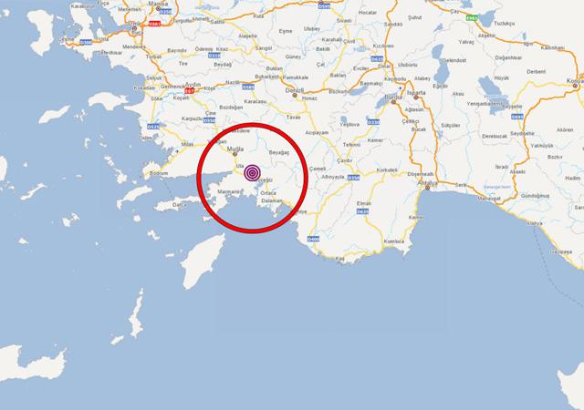 Muğla'da art arda 3 deprem meydana geldi