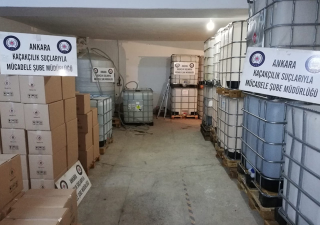 Ankara'da sahte içki operasyonu: 24 ton etil alkol ele geçirildi