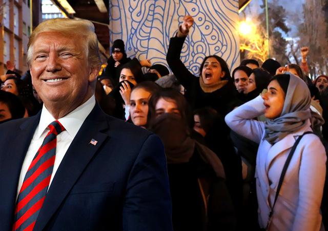 Trump'tan İran'daki protestoculara destek