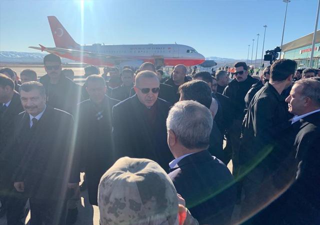 Cumhurbaşkanı Erdoğan, deprem bölgesinde