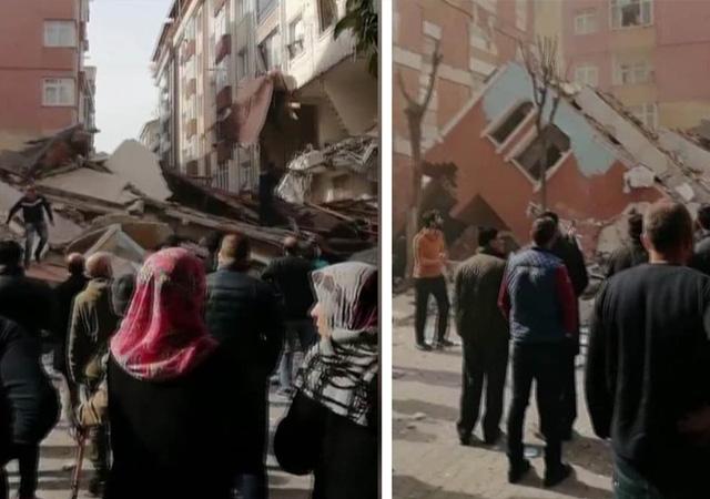 Bahçelievler'de bina yıkıldı