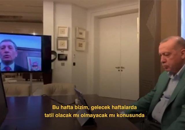 Bakan Selçuk'tan Cumhurbaşkanı Erdoğan'a tatil sorusu