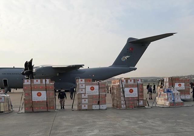 MSB: Sağlık malzemelerini taşıyan uçak İspanya'ya ulaştı