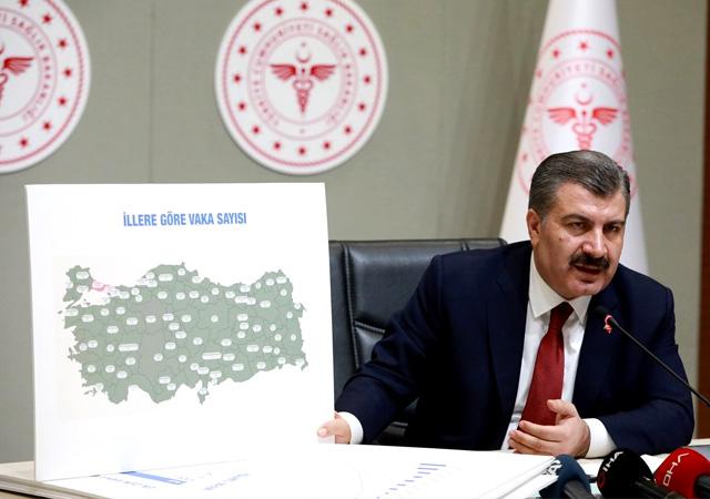 Türkiye'de Koronavirüs görülen iller açıklandı
