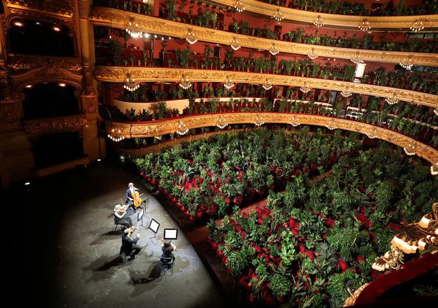 Barcelona operası ilk konserini bitkilere verdi