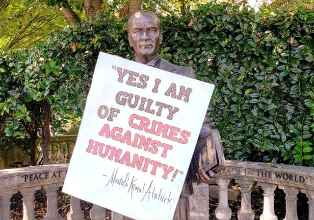ABD'de Atatürk heykeline çirkin saldırı
