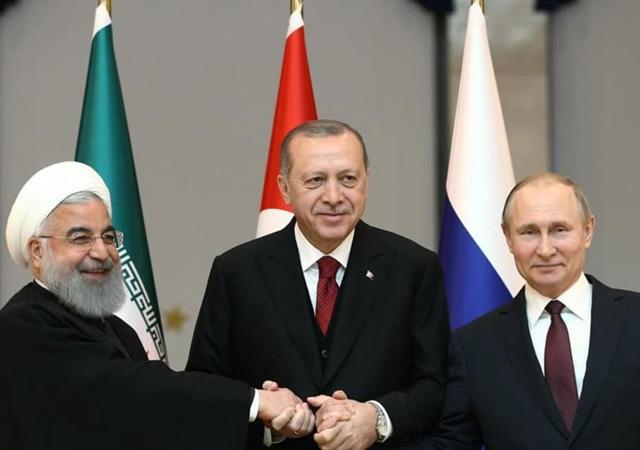 Putin, Erdoğan ve Ruhani arasındaki üçlü zirve başladı