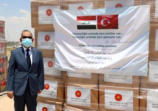 Türkiye'nin gönderdiği sağlık yardımı Kerkük'e ulaştı