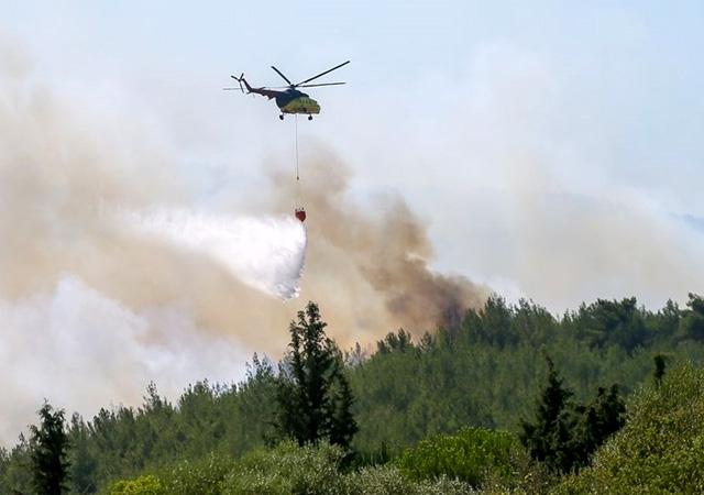 Pakdemirli: İzmir'deki orman yangını kontrol altında, 1 gözaltı var