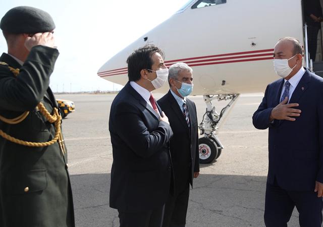 Çavuşoğlu Libya'ya gitti
