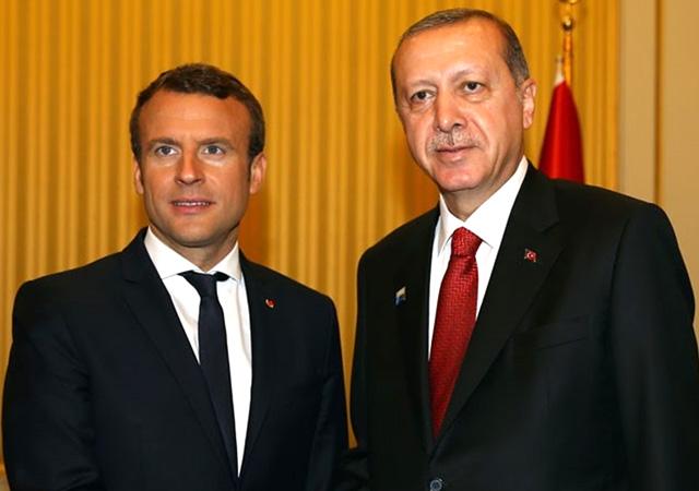 Erdoğan Macron ile Doğu Akdeniz'i görüştü