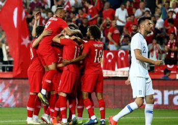 Millilerimiz Yunanistan'ı yıktı geçti! 2-1